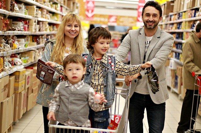nákup s rodinou